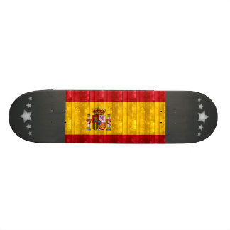 Wooden Spanish Flag Skateboard Decks