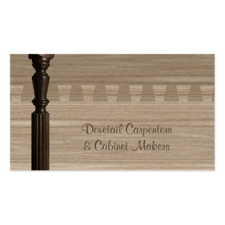 Wooden spindle and dovetail joint pack of standard business cards