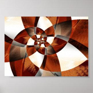 Wooden Spiral Poster