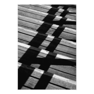 Wooden Stairs and Shadows Photograph