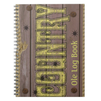 Wooden Style Country and Western Notebook