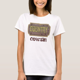 Wooden Style Country and Western T-Shirt