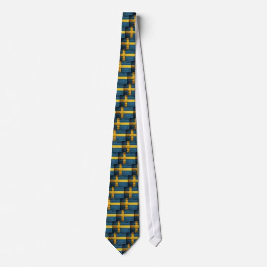 Wooden Sweden Flag Tie