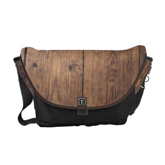 Wooden texture courier bag