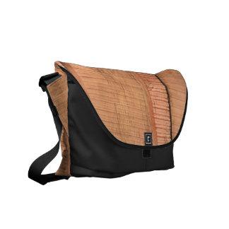 Wooden texture messenger bags