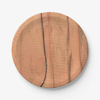 Wooden texture paper plate