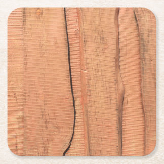 Wooden texture square paper coaster