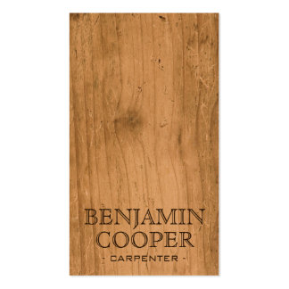 Wooden Texture - Style B Business Cards
