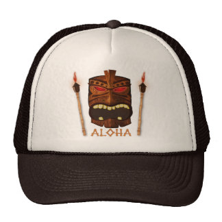Wooden Tiki Aloha Retro Hawaiian Summer Custom Cap