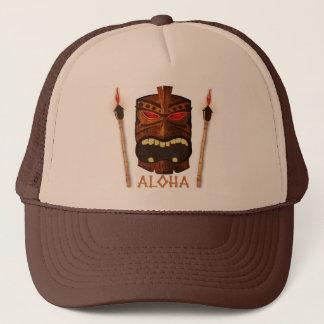 Wooden Tiki Aloha Retro Hawaiian Summer Custom Trucker Hat
