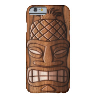 Wooden Tiki Mask Barely There iPhone 6 Case
