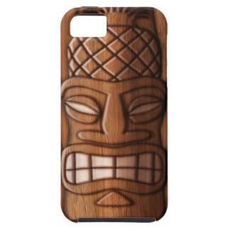 Wooden Tiki Mask Case For The iPhone 5
