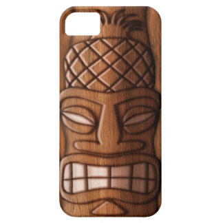 Wooden Tiki Mask iPhone 5 Case