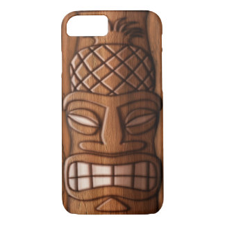 Wooden Tiki Mask iPhone 7 Case