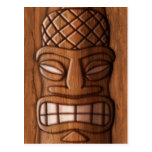 Wooden Tiki Mask Post Cards