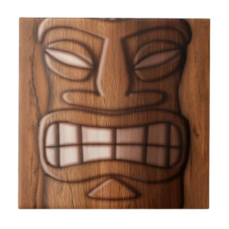 Wooden Tiki Mask Tile