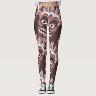 Wooden Tiki Totem Funny Leggings