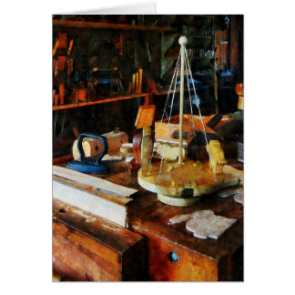 Wooden Toys in Wood Shop Greeting Card