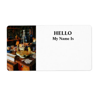Wooden Toys in Wood Shop Shipping Label