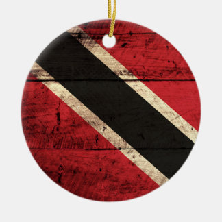 Wooden Trinidad and Tobago Flag Christmas Ornament