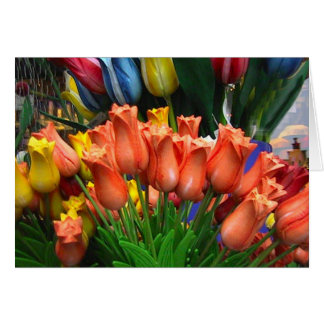 Wooden tulips from Amsterdam Card