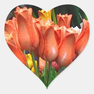 Wooden tulips from Amsterdam Heart Sticker
