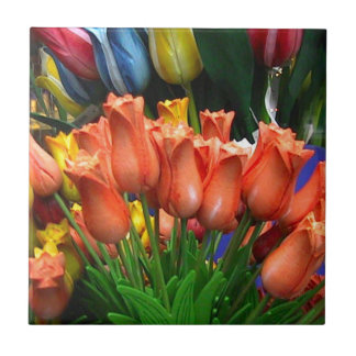Wooden tulips from Amsterdam Tile