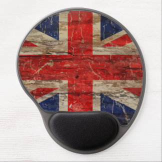 Wooden Vintage Union Jack Flag Gel Mouse Pad