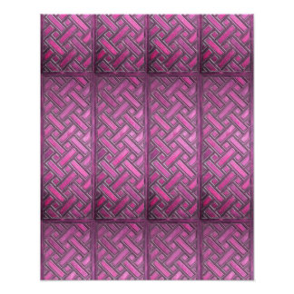 Wooden Weave Pattern Purple Photo Print