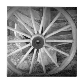 Wooden Wheel Small Square Tile