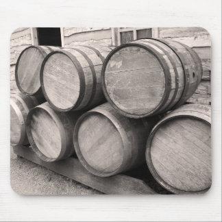 Wooden Whiskey Barrels Mouse Mat