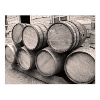Wooden Whiskey Barrels Postcard