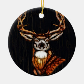 Wooden Wood Deer Rustic Country Unique Farmhouse Christmas Ornament