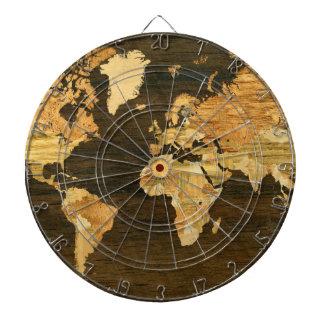 Wooden World Map Dartboard