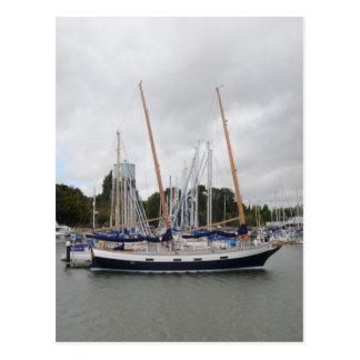 Wooden Yacht Barn Owl Postcard