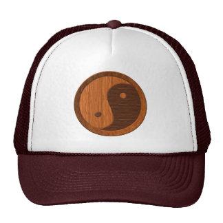 Wooden Yin Yang Cap