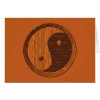 Wooden Yin Yang Card