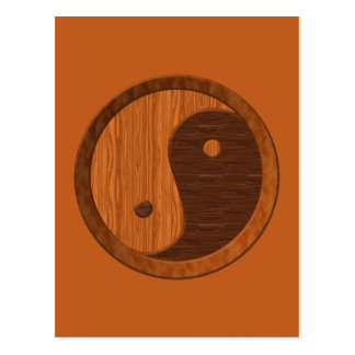 Wooden Yin Yang Postcards