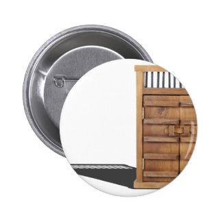WoodenCastleDoorBarLock021613.png 6 Cm Round Badge