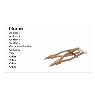 WoodenCrutches081210, Name, Address 1, Address ... Pack Of Standard Business Cards