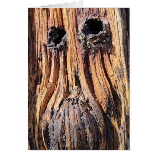"""Woodface"" - Lindisfarne, Northumberland Card"