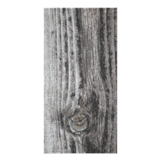 Woodgrain Picture Personalized Photo Card