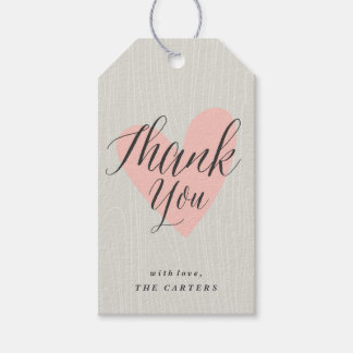 Woodgrain thank you Gift Tag