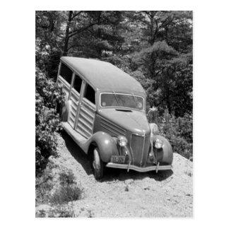 Woodie in the Woods, 1930s Postcard