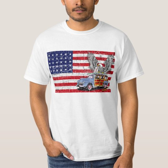WOODIE USA FLAG T-SHIRT