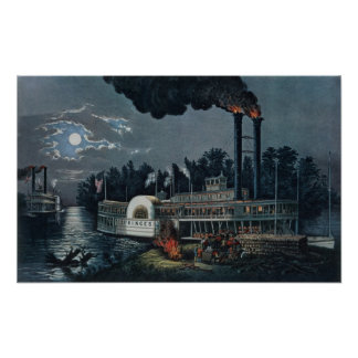 Wooding up' on the Mississippi Poster