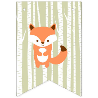 Woodland Animal Baby Shower Bunting Banner