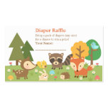 Woodland Animal Baby Shower Diaper Raffle Tickets Pack Of Standard Business Cards