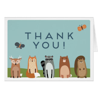 Woodland Animal Baby Shower Thank You Card
