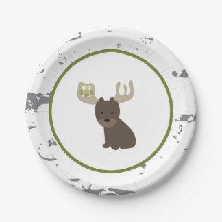 Woodland Animal Paper Plates